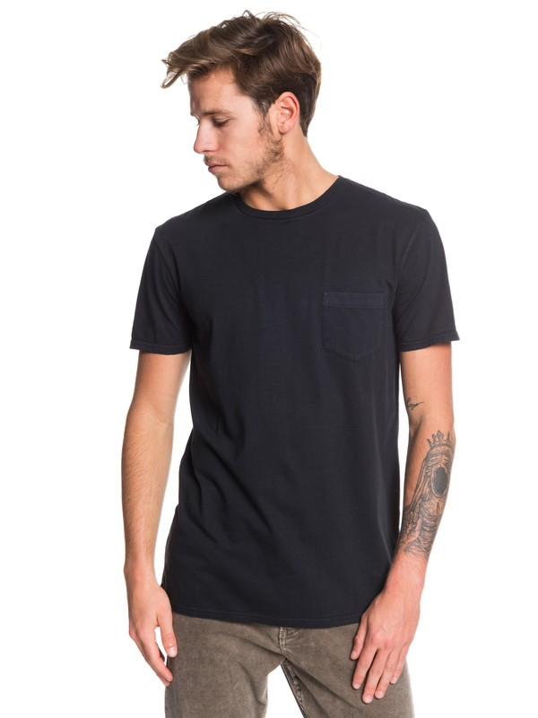 0 Basic Washed Tee Black EQYZT05460 Quiksilver