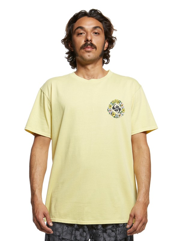 0 Originals Dead Flowers Tee Yellow EQYZT05464 Quiksilver