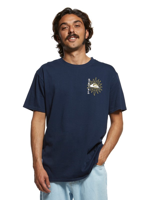 0 Originals Ceremonial Tee Blue EQYZT05465 Quiksilver