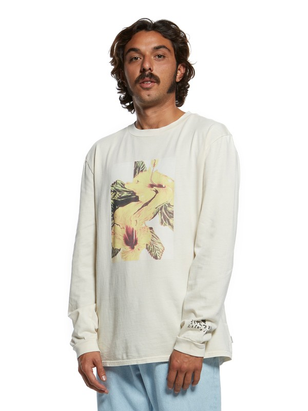 0 Originals Warped Out Long Sleeve Tee White EQYZT05468 Quiksilver