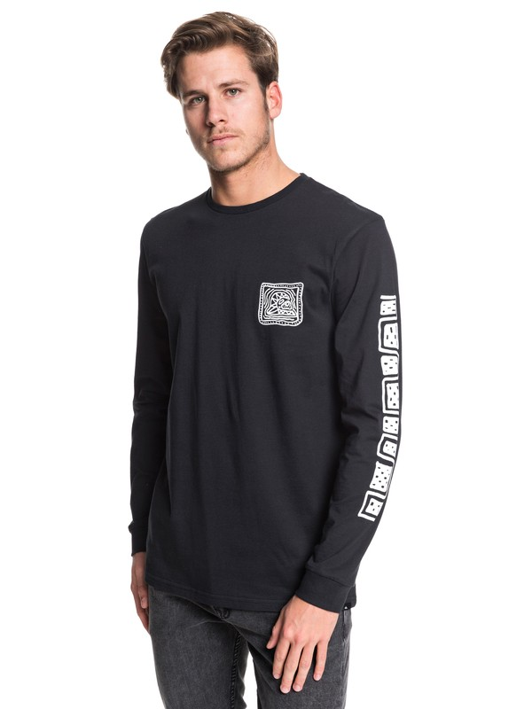0 Bright Eye - Long Sleeve T-Shirt Black EQYZT05506 Quiksilver
