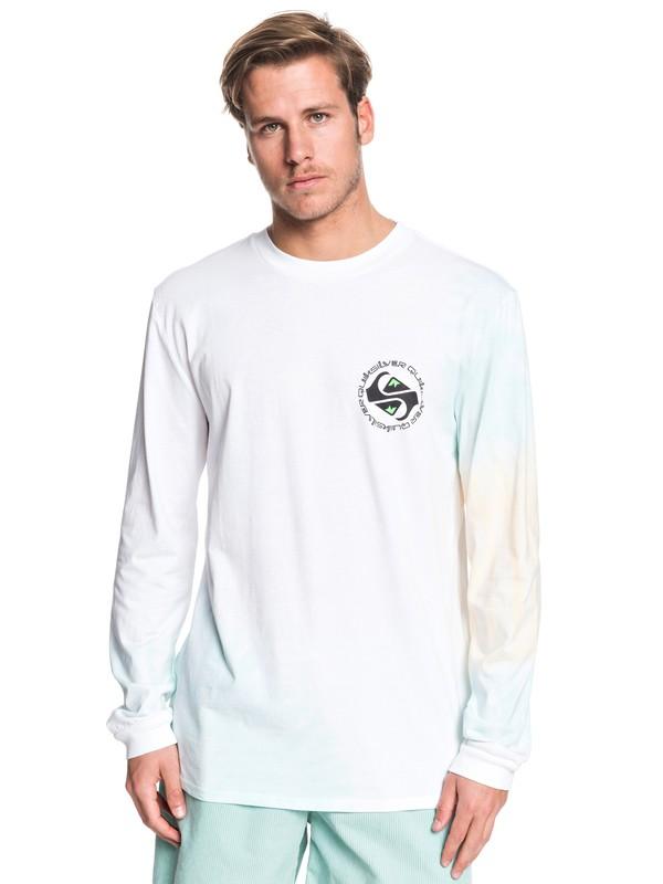 0 Omni Logo Long Sleeve Tee White EQYZT05513 Quiksilver