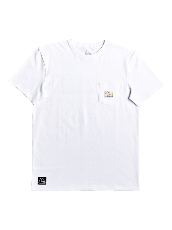 0 Kwak On The Rocks Pocket Tee White EQYZT05533 Quiksilver