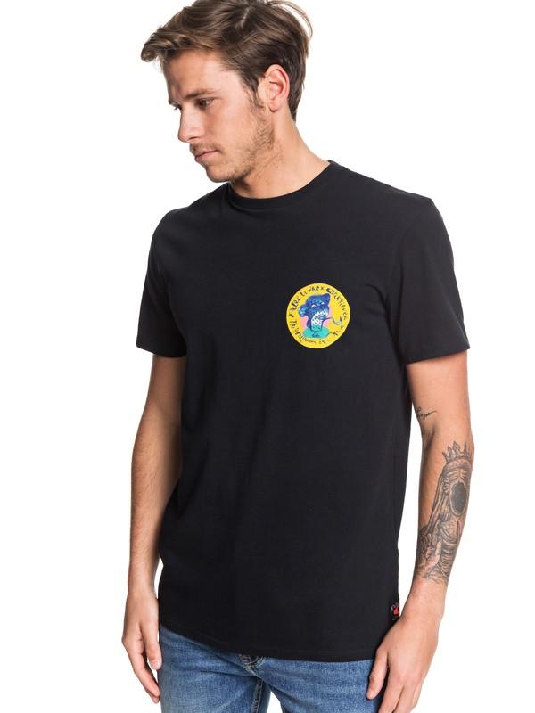 0 Art House - Camiseta para Hombre Negro EQYZT05534 Quiksilver
