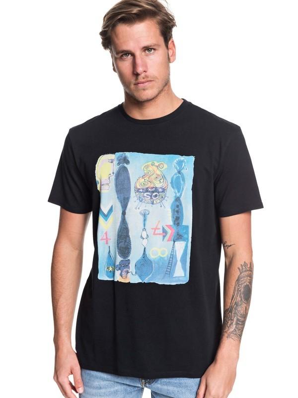 0 Art House - Camiseta para Hombre Negro EQYZT05535 Quiksilver