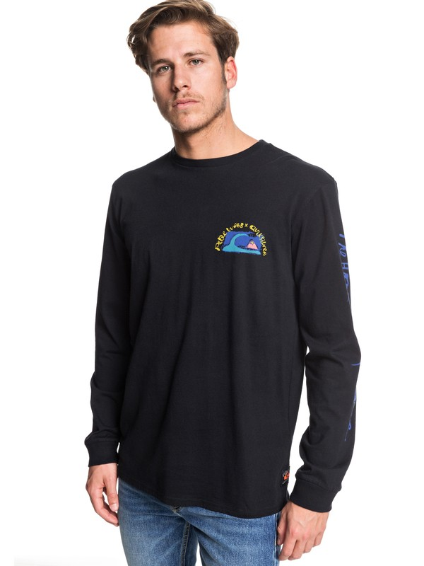 0 Art House Long Sleeve Tee Black EQYZT05536 Quiksilver