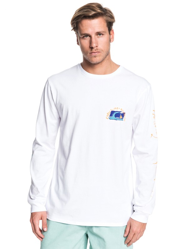 0 Art House Long Sleeve Tee White EQYZT05536 Quiksilver