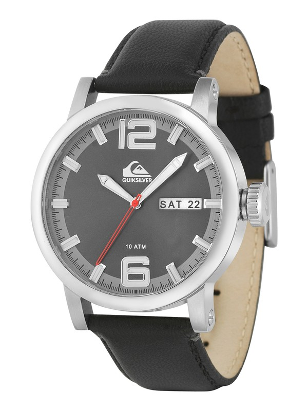 0 The Sentinel Leather Strap Watch  QS1010 Quiksilver