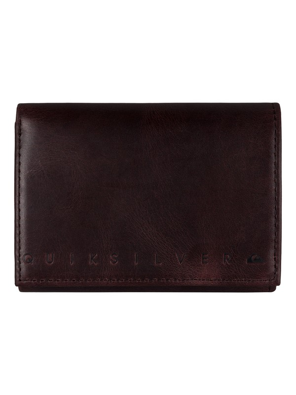 0 Trifecta Leather Wallet Brown UQYAA03027 Quiksilver