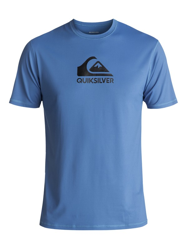 0 Solid Streak Short Sleeve UPF 50 Rash Guard  UQYWR03054 Quiksilver