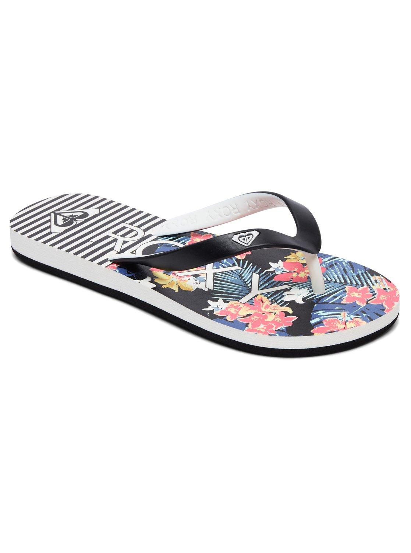 c9295ba7b 0 Girl s 7-14 Tahiti Flip-Flops Black ARGL100181 Roxy