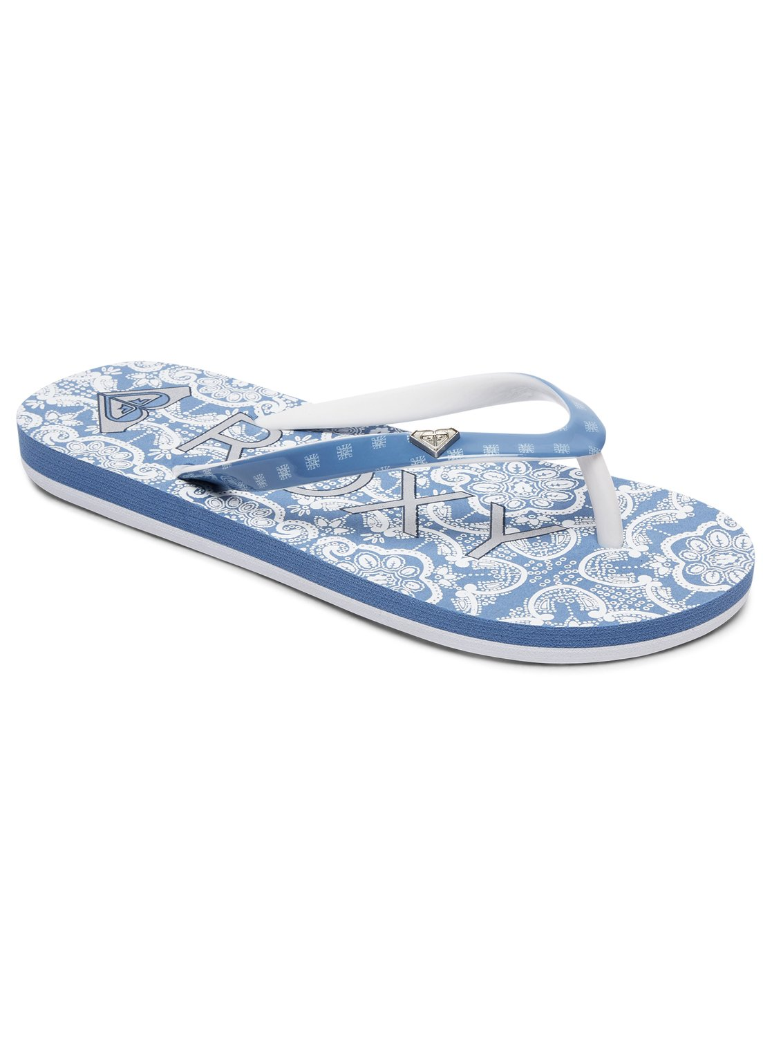 6e37eb445252 0 Pebbles VI - Flip-Flops for Girls Blue ARGL100182 Roxy