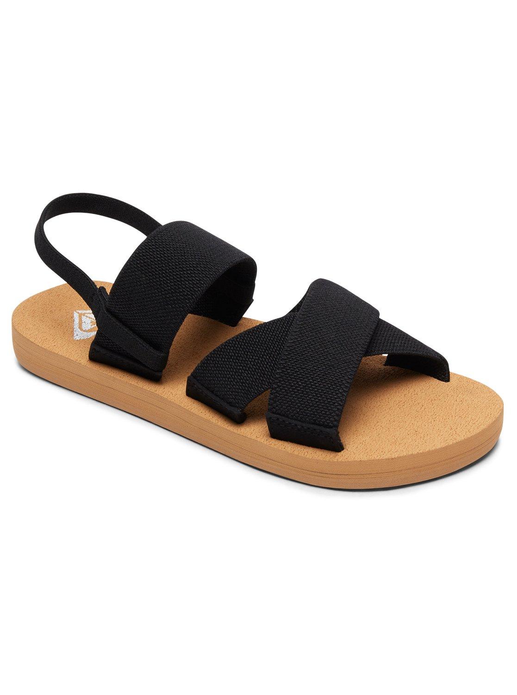 a7b778fa4042 0 Girl s 7-14 Cove Elastic Multi-Strap Sandals Black ARGL200062 Roxy