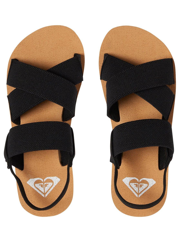 ea3f5862d64e 2 Girl s 7-14 Cove Elastic Multi-Strap Sandals Black ARGL200062 Roxy