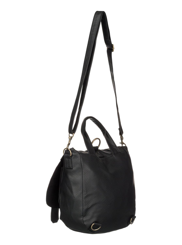 b0a9762a7212 3 Magnolia Bay Rucksack Bag Black ARJBA03078 Roxy