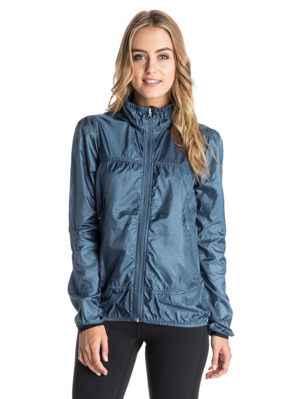 ede4f0276949b 0 Rain Runner Hooded Windbreaker ARJJK03016 Roxy