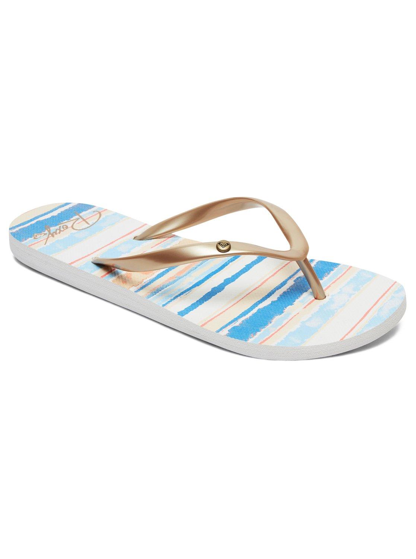 6a8ecbaba 0 Portofino Flip-Flops Blue ARJL100668 Roxy