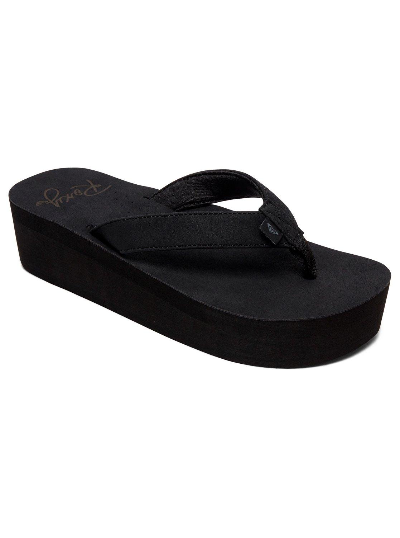 6d926d6a6 0 Melinda Platform Sandals Black ARJL100774 Roxy
