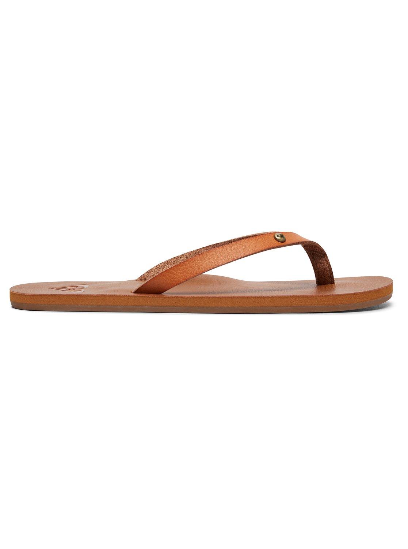 Tan Ladies Flip Flops Roxy Jyll II Flip Flops