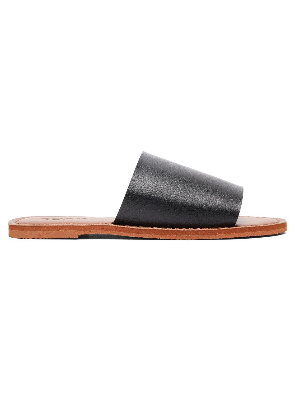 dae53e88a737 1 Kaia Slide Sandals Black ARJL200654 Roxy