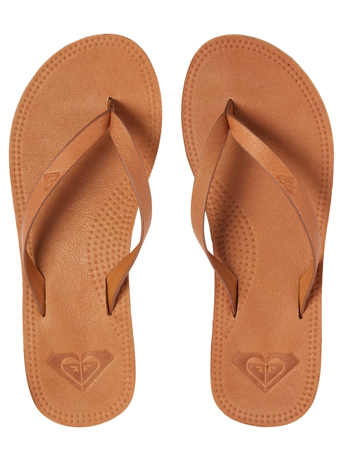 836f8a1f7eb0b Details about Roxy™ Brinn Leather Flip-Flops for Women ARJL200689