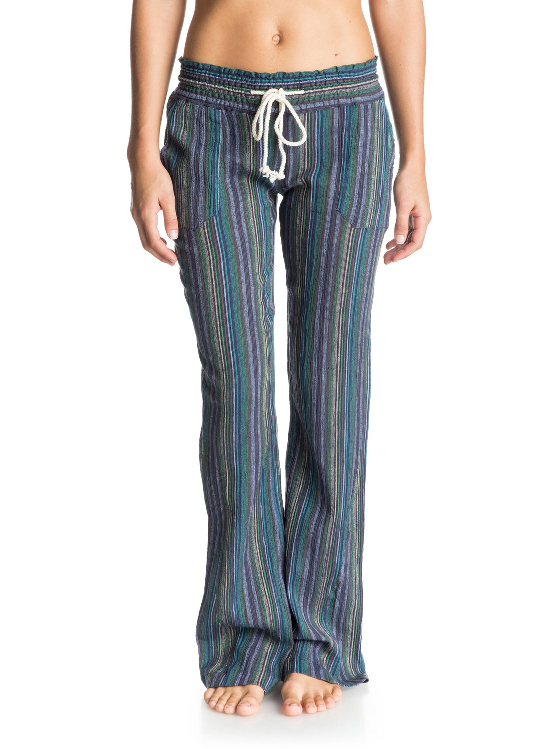 08aef4df3a 0 Oceanside Stripe Beach Pants ARJNP03071 Roxy