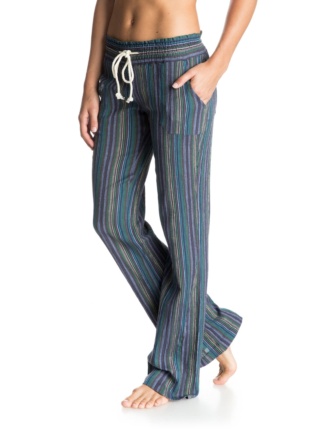 1a504959bf 1 Oceanside Stripe Beach Pants ARJNP03071 Roxy