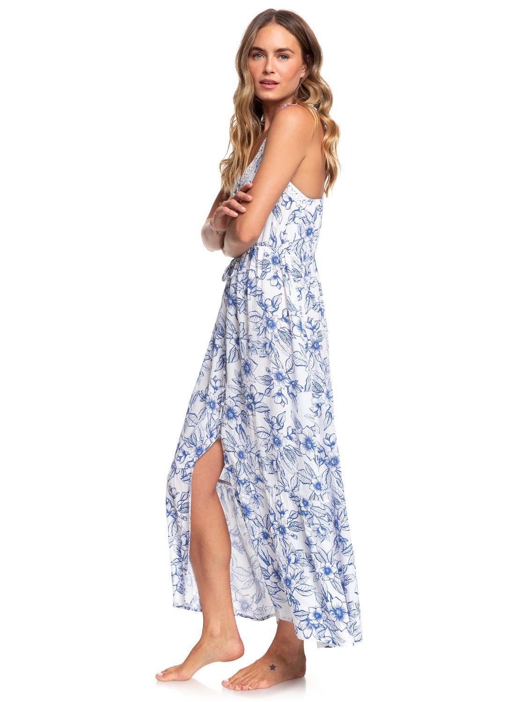 3e28f207ff0 1 Hot Summer Lands Strappy Button Through Maxi Dress White ARJWD03255 Roxy