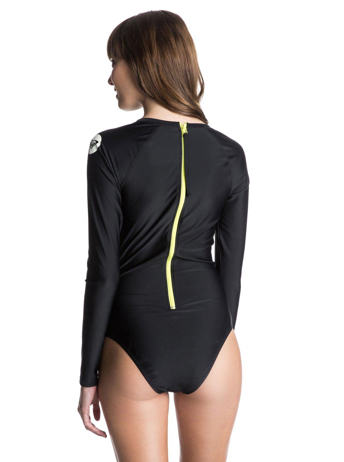6487a61235 Pop Surf Optic Nature Long Sleeve One Piece Swimsuit ARJWR03027 | Roxy