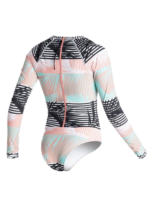 692f238726f87 3 Pop Surf Long Sleeve One Piece Swimsuit ARJWR03071 Roxy