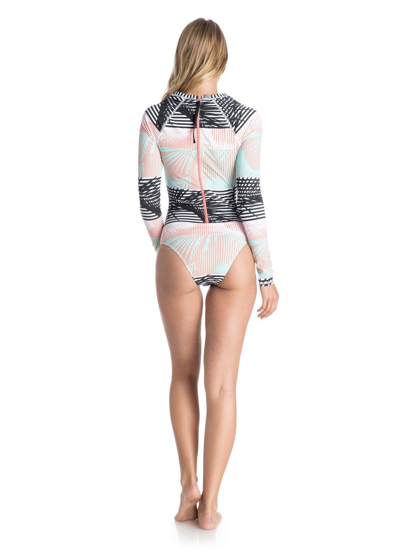 37f3c96fdbc5b 1 Pop Surf Long Sleeve One Piece Swimsuit ARJWR03071 Roxy