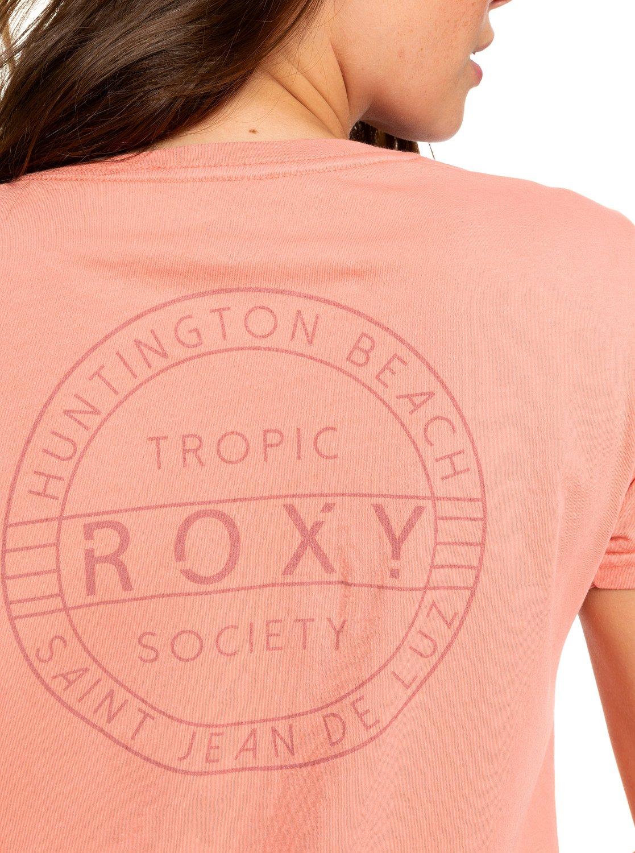 5961a2e294 1 Tropic Society Midi T-Shirt Dress Pink ARJZT05412 Roxy