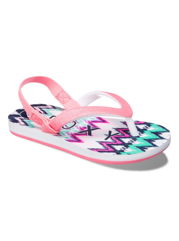 3e5057e16 0 Girls 2-6 Tahiti Flip Flops ARLL100015 Roxy