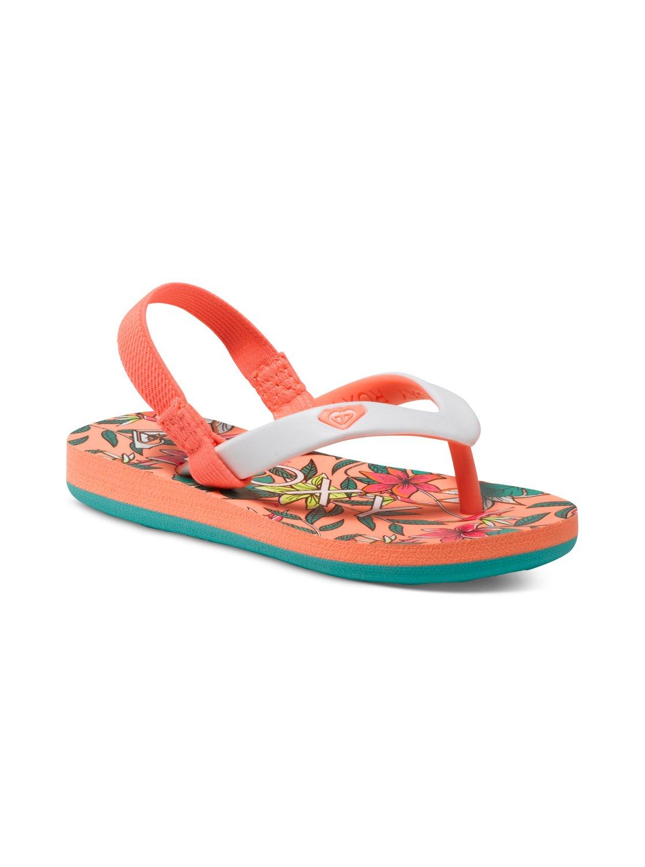 8832c6465 0 Girls 2-6 Tahiti Flip Flops ARLL100015 Roxy