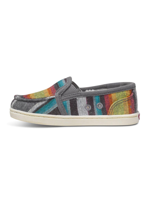 46d6f1c0e3056b 2 Girls 2-6 Lido Wool Slip-On Shoes ARLS600025 Roxy
