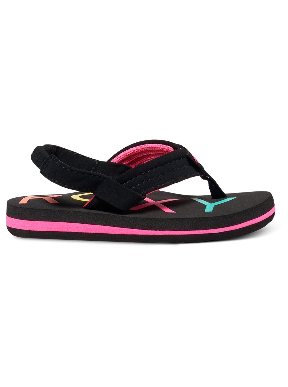 6618f4fce 1 Girl s 2-6 Vista Sandals Black AROL100006 Roxy