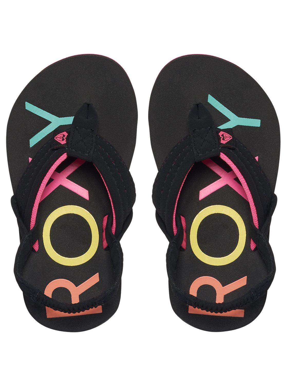 7c021e323 2 Girl s 2-6 Vista Sandals Black AROL100006 Roxy
