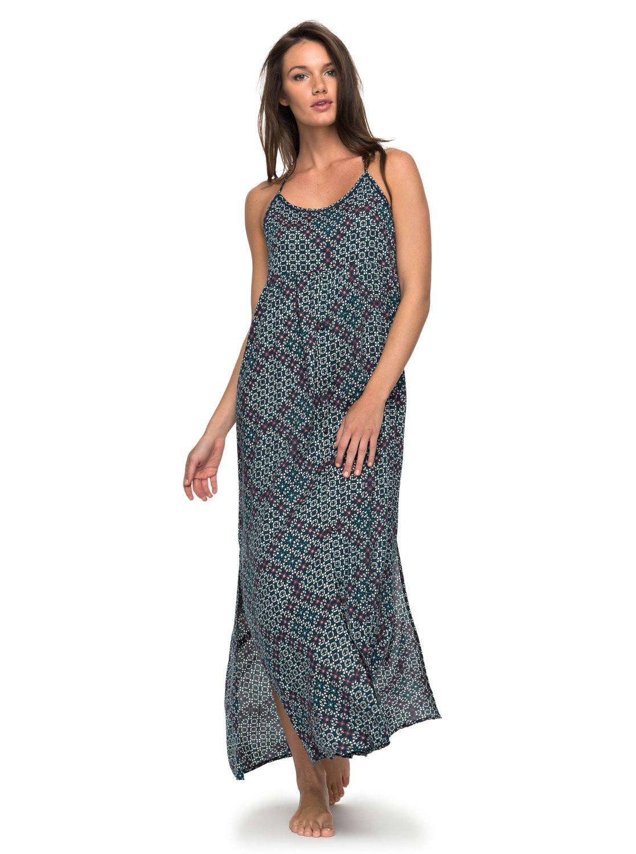 89671296f 1 Vestido Feminino Longo Estampado Roxy Verde BR73811517 Roxy