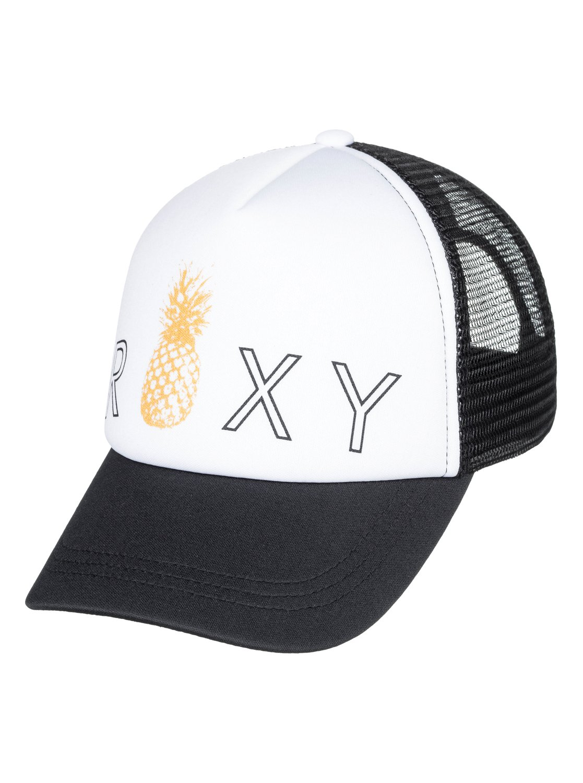 2e8e1e8a 0 Girl's 7-14 Reggae Town Trucker Hat Black ERGHA03129 Roxy