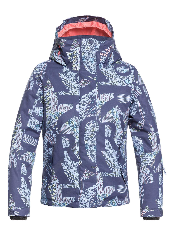b2b485a1b 0 Girl's 7-14 ROXY Jetty Snow Jacket Blue ERGTJ03058 Roxy
