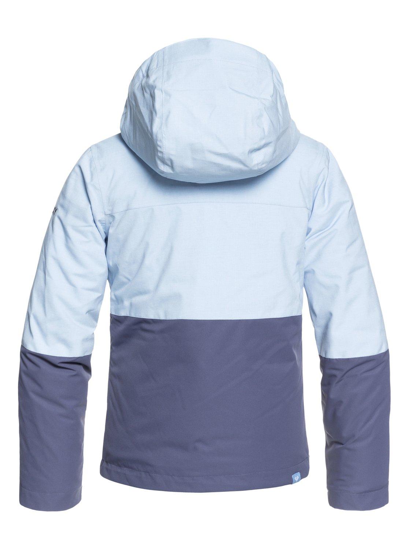 59fee256f 1 ROXY Jetty Block - Snow Jacket for Girls 8-16 Blue ERGTJ03059 Roxy