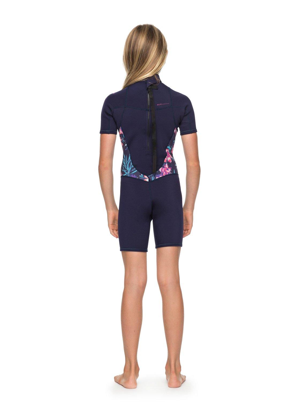 67122e5d4 Girl s 7-14 2 2mm Syncro Series Short Sleeve Back Zip FLT Springsuit ...