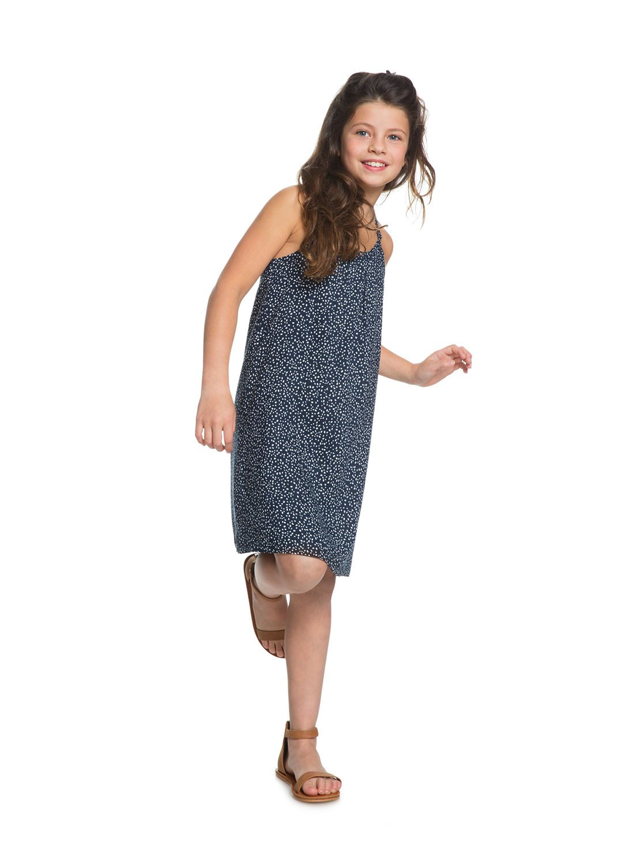 6fba532fd46 2 Exotic Nature - Robe à bretelles pour Fille 8-16 ans Bleu ERGWD03071 Roxy