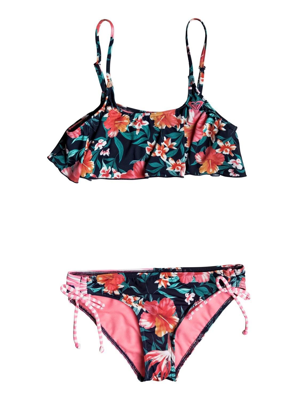 490595e1dc1a6 0 Girl's 7-14 Roxy Waves Flutter Bikini Set ERGX203108 Roxy