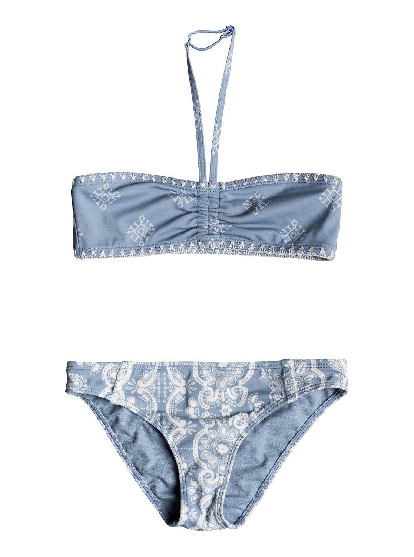 a918cb524d 0 Girl's 7-14 Nautical Summer Bandeau Bikini Set ERGX203135 Roxy