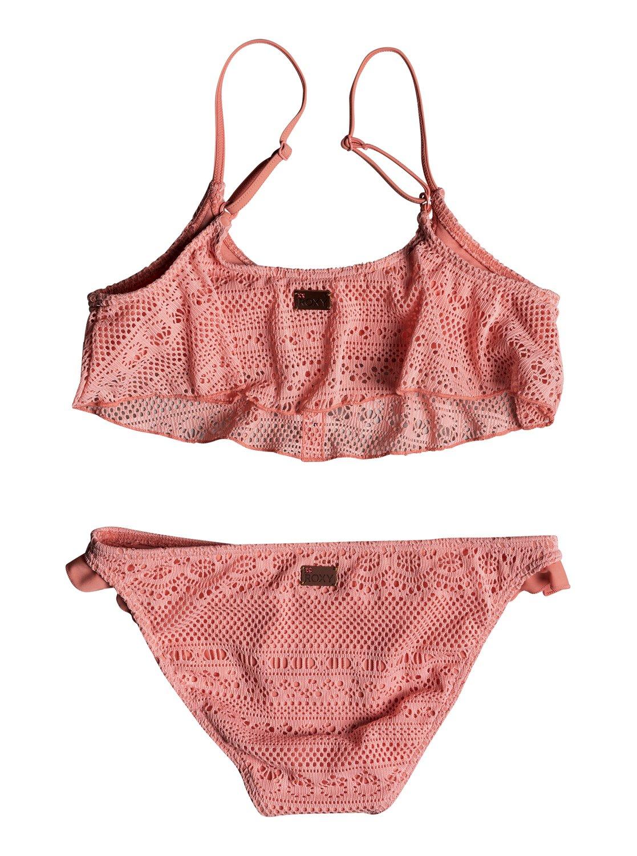 e5eec55aace99 1 Girl's 7-14 Faded Sun Flutter Bikini Set ERGX203158 Roxy