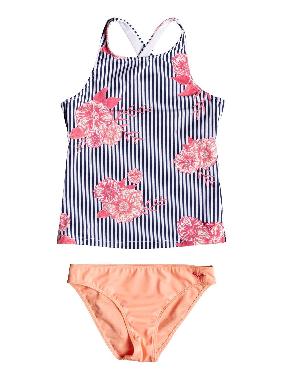3ecbf9bbad 0 Girl's 7-14 Young And Free Tankini Bikini Set ERGX203181 Roxy