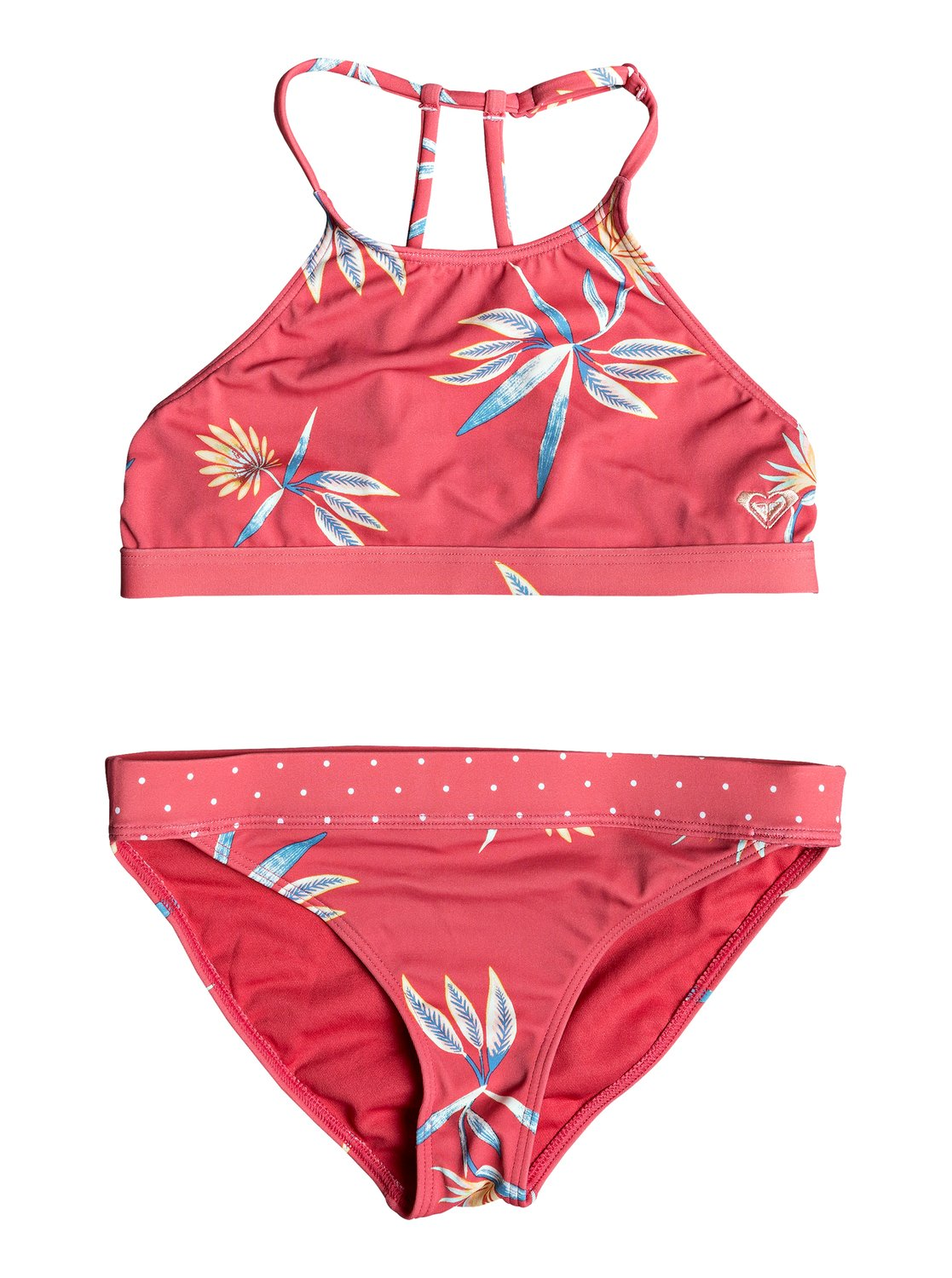 e678313139 0 Girl's 7-14 Folky Way Crop Top Bikini Set Red ERGX203233 Roxy