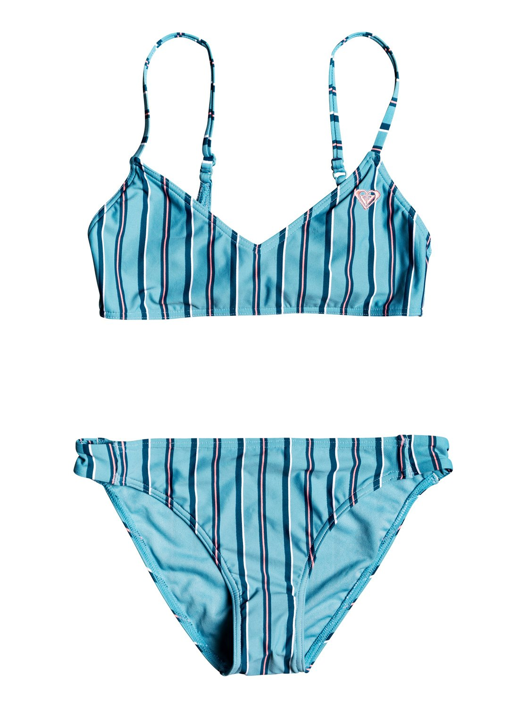 72b79238c927 0 Surf My Mind Athletic Bikini Set Blue ERGX203243 Roxy