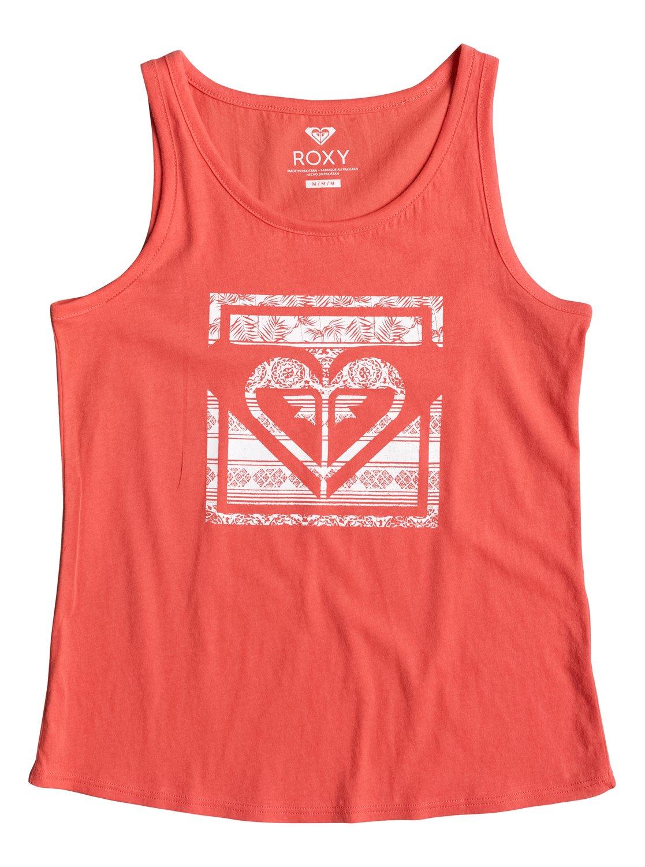 42112b79 0 Rainy Night Tropical Heart - Vest Top Pink ERGZT03164 Roxy